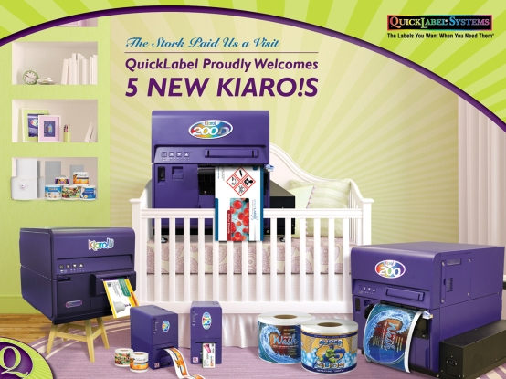 Image announcing the addition of 5 new Kiaro! label printers to QuickLabel's line-up