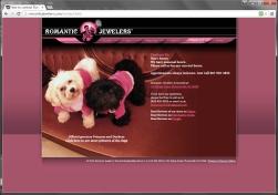 Romantic Jewelers website design and development.