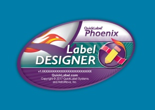 Phoenix Label Designer splash screen design