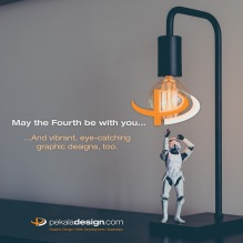 Image for Instagram and Facebook promoting Pekala Design's services on the Star Wars holiday May the 4th.
