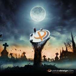 Image for Social Channels promoting Pekala Design on Halloween