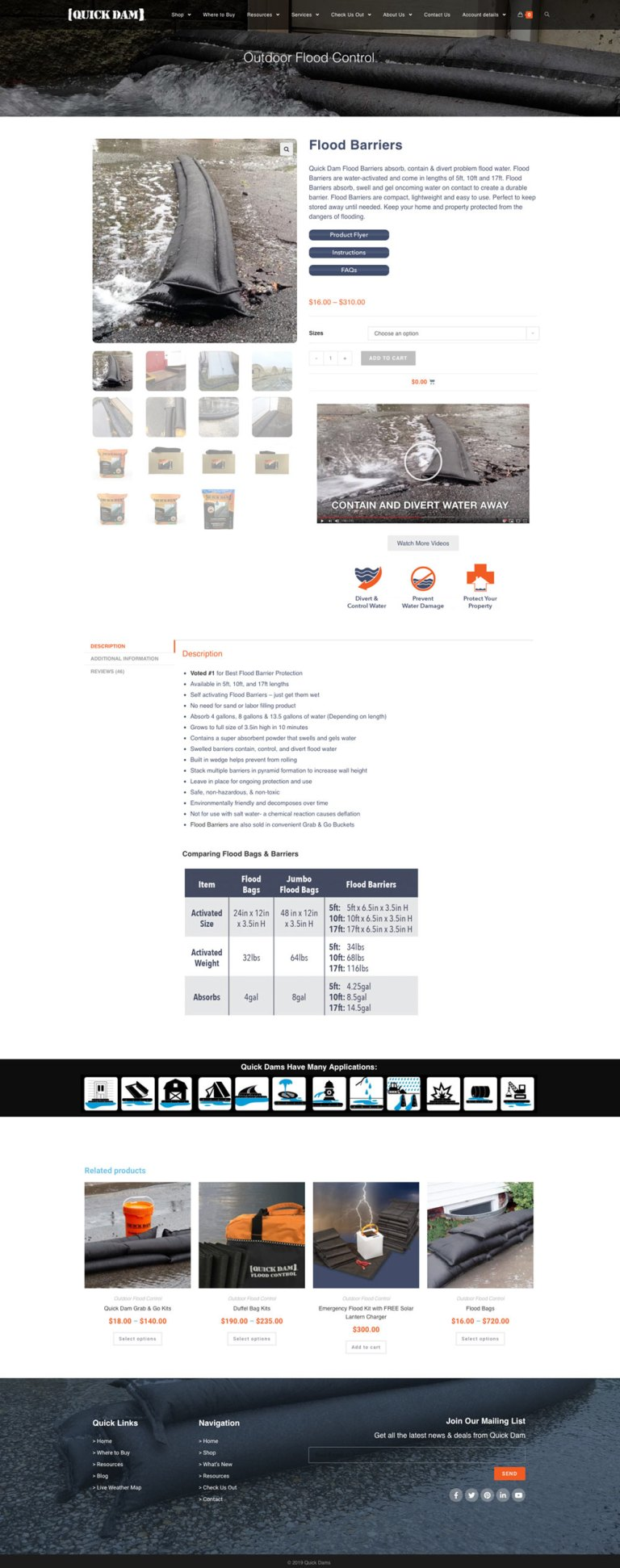 quickdam_website_product_page